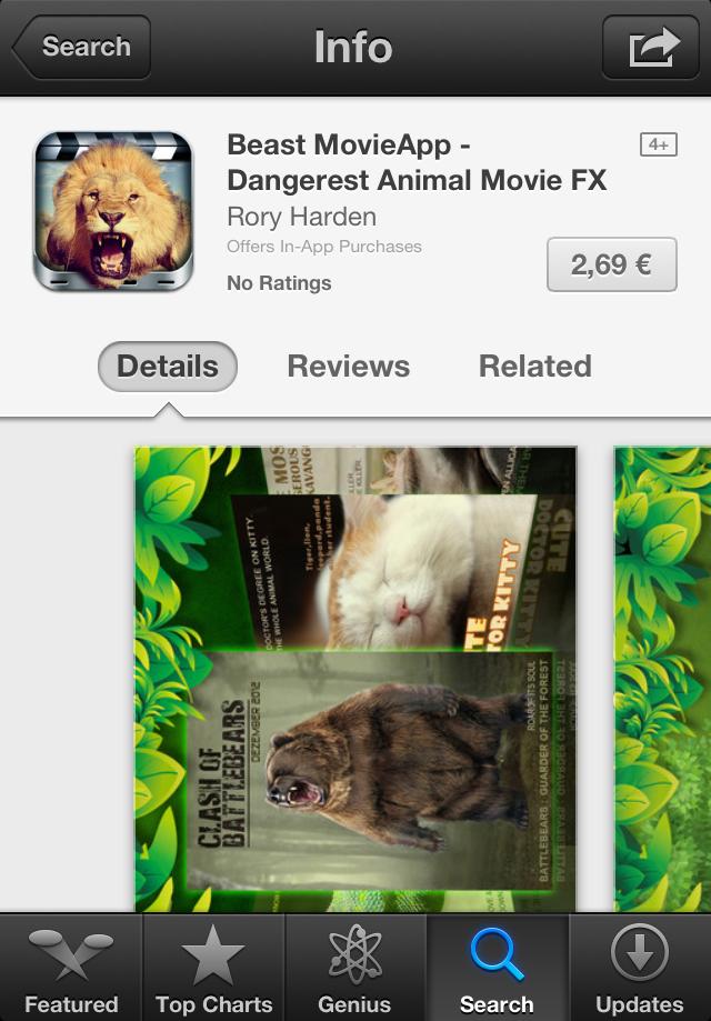 App with stolen lion picture