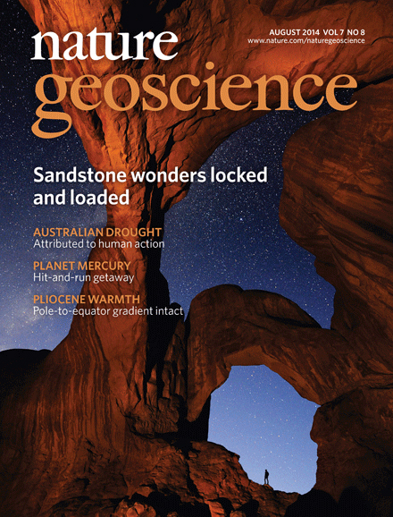Nature Geoscience - Cover 2014