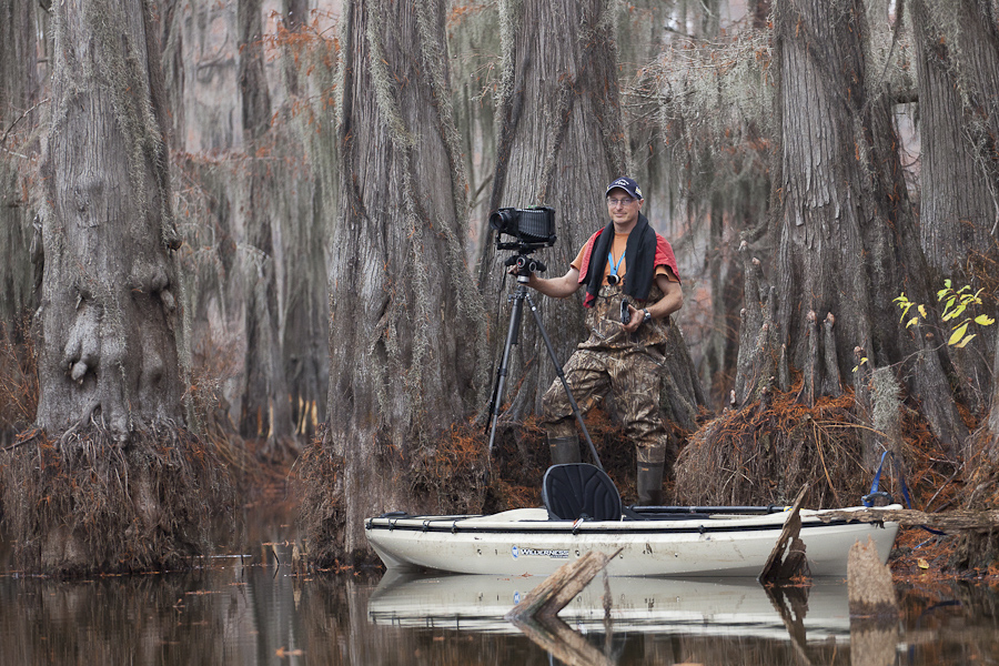 Photographing in the Cypress Swamps